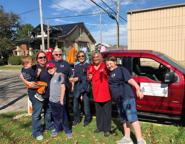Members of First United Presbyterian Church in Collinsville IL Serve their Community